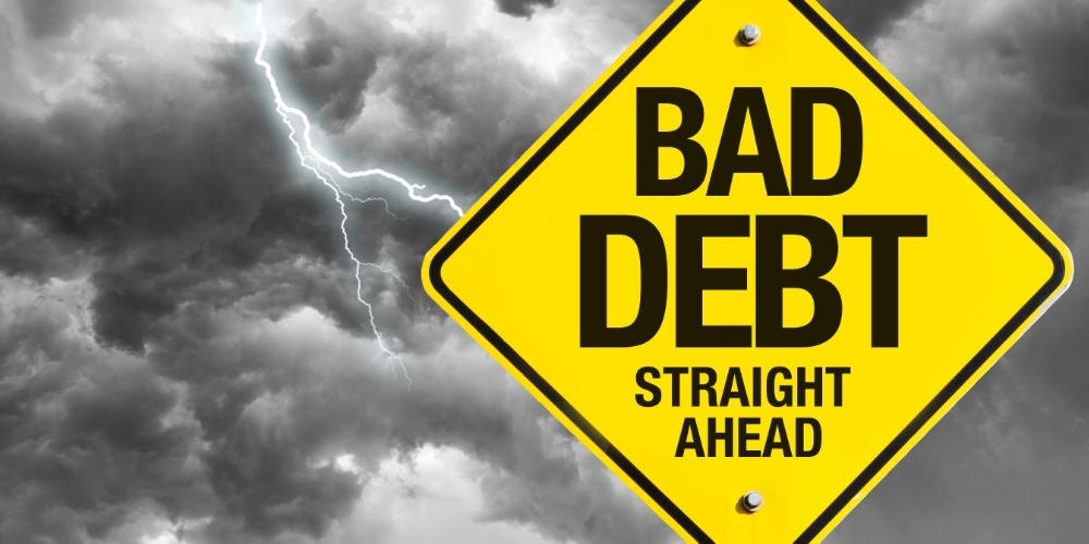 Bad Debt Ahead warning sign